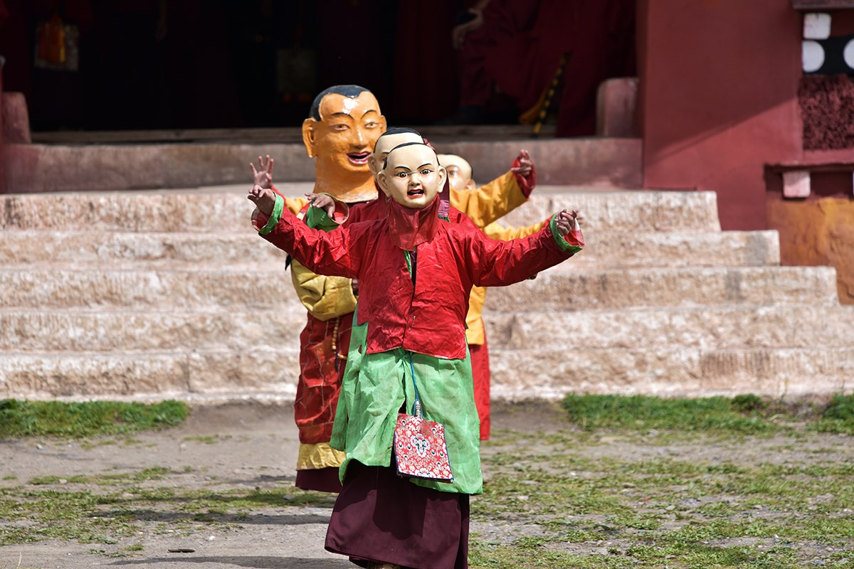 Mask Dance Festival at Huiyuan Temple | Foto von Liu Bin